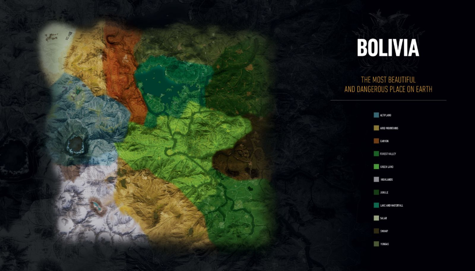 Ghost Recon Wildlands Map Of Bolivia Revealed