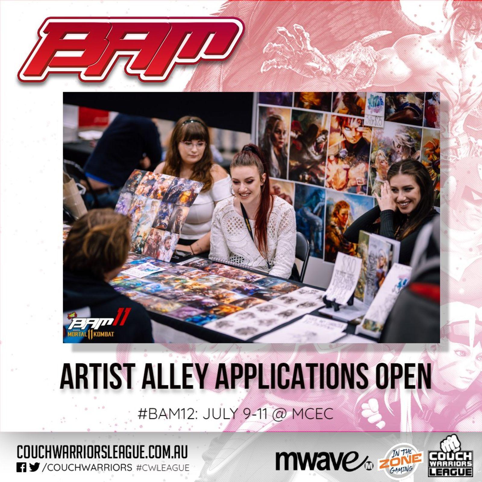 Artist's Alley announcement